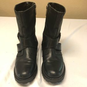 Harley Davidson Women's Black Leather cycle Boots